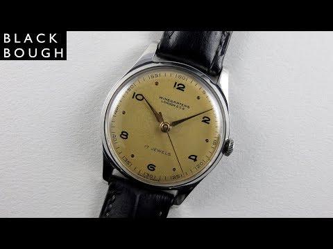 Winegartens London steel vintage wristwatch, circa 1950