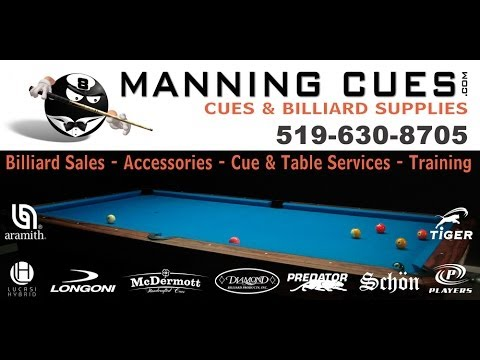 TRACK LINES TO SIDE POCKET - WWW.MANNINGCUES.COM