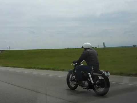 Cruising down the highway on my 1954 Harley-Davidson KHK - YouTube