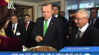 الرئيس بوتفليقة يتحادث مع أردوغان