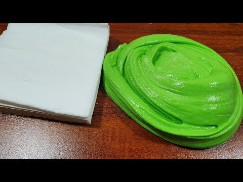Paper Slime, Paper and Flour Slime No Glue