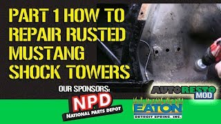 How to Rust Repair A Mustang Shock Tower PART 1 Prep EPISODE 327 Autorestomod