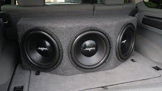 Skar Audio IX-3X12D2 Triple 12-inch 1500 Watt Loaded Subwoofer Enclosure Demo!!