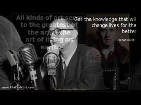 Bertolt Brecht quotes