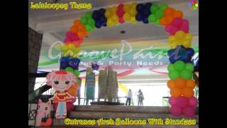 Groove Paint Lalaloopsy Theme Styro Backdrop & Balloon Decoration