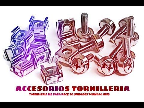 Video de Tornilleria M6 para rack 20 unidades tornillo  Gris