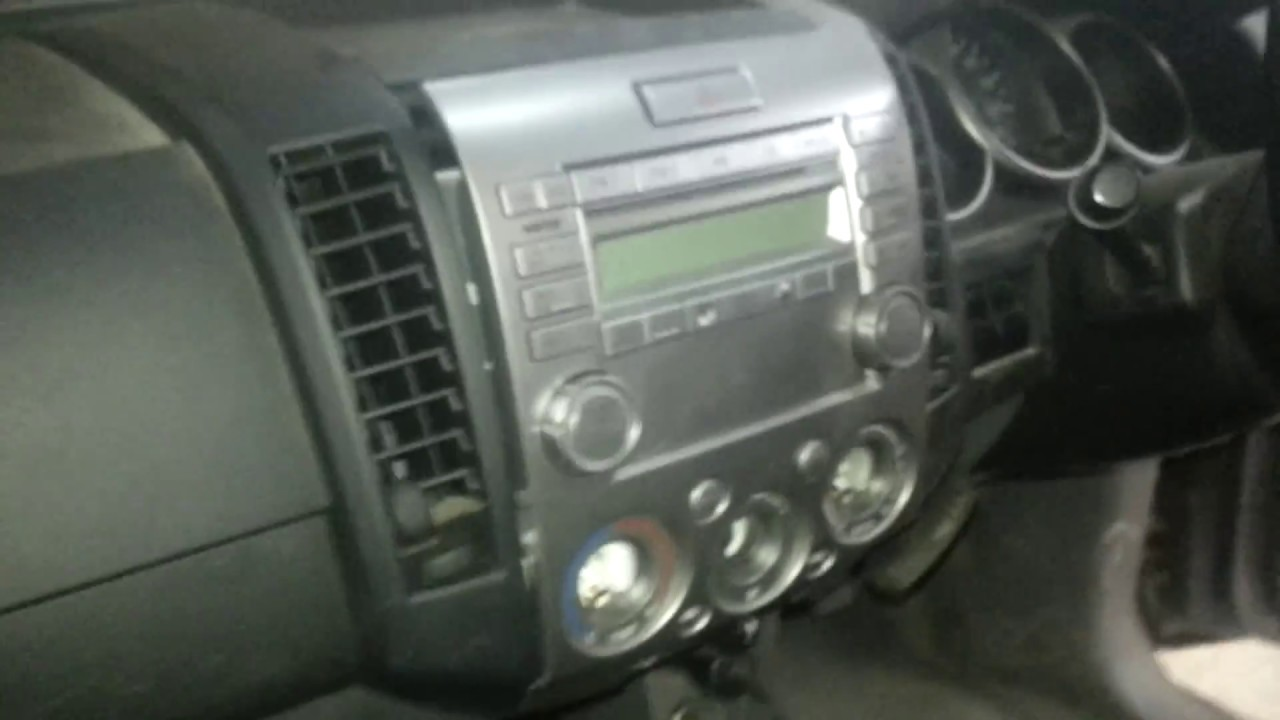 2006 Ford Ranger Stereo Removal Installing A New Radio Into My Mazda Bt 50 Wiring Diagram How To Remove The From Bt50 Youtube