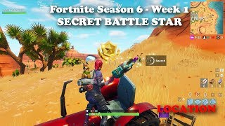 Fortnite - Season 6 - Week 1 - Secret Battle Star Location (Hunting Party Challenges)