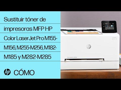 Sustituir tóner de impresoras MFP HP Color LaserJet Pro M155-M156, M255-M256, M182-M185 y M282-M285