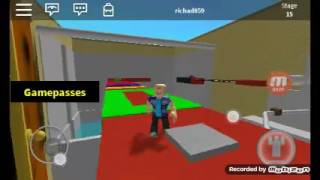 Playing ROBLOX on the map escape the bathroom #2