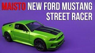 Розпакування Модель Maisto (1:24) Новий Форд Мустанг Вуличний Гонщик