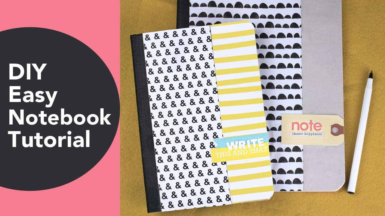 Diy Book Cover Without A Paper ~ Diy easy notebook tutorial back to school crafts altered book
