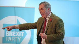 Watch again: Nigel Farage gives speech at Brexit Party rally in Wales