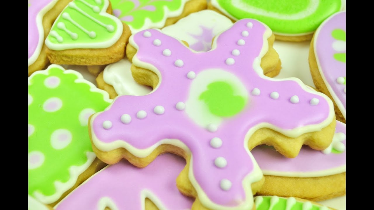 Recipe for butter cookies with frosting