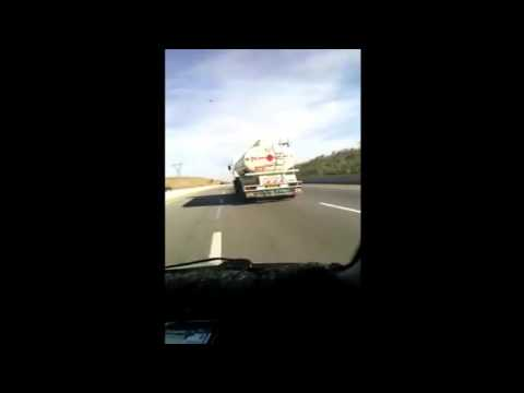 Semi remorque en algerie qui roule 200 km/h c graaaaav 2016