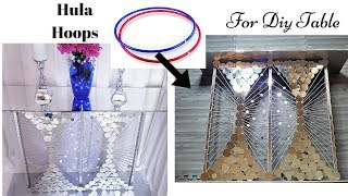 HOW TO MAKE A GLAM TABLE WITH HOOPS! DIY GLAM HOME DECOR IDEA| DIY COLLAB VIDEO
