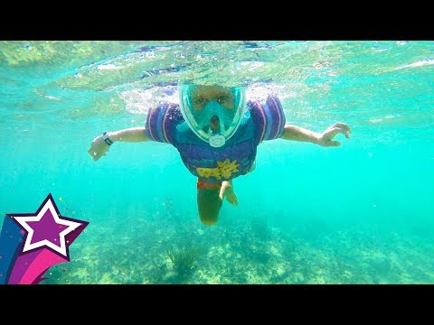 Fun Day and Playtime in Mexico on our Family Vacation Snorkeling Playing with Toys Kids Travel IRL