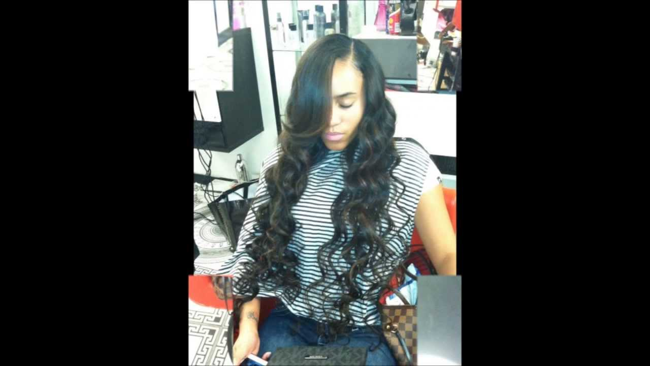 celebrity style sew-in weave extension - youtube