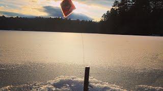 Ice Fishing Salmon Maine 2020