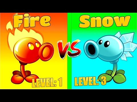 More Power Snow vs Fire Plants vs Zombies 2