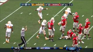 09/29/2012 Tennessee vs Georgia Football Highlights