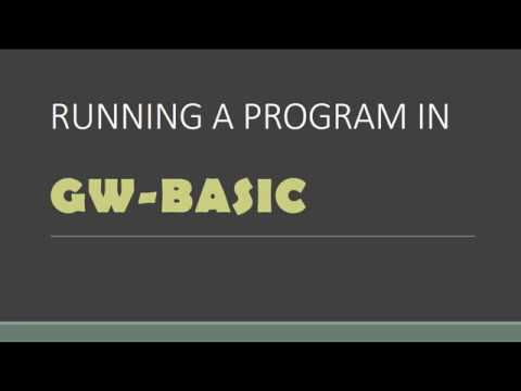 Running a program in GW-BASIC(Lesson # 4)