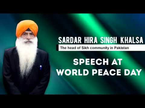 Speech at World PEACE Day