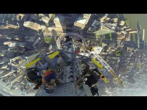 Bird's Eye View of Final Piece of Freedom Tower Antenna