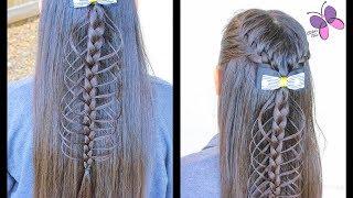 Back Pull Through Braid | Braided Hairstyles | Hairstyles for Girls | ChikasChicEng