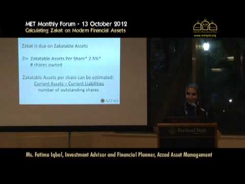 Calculating Zakat on Modern Financial Assets