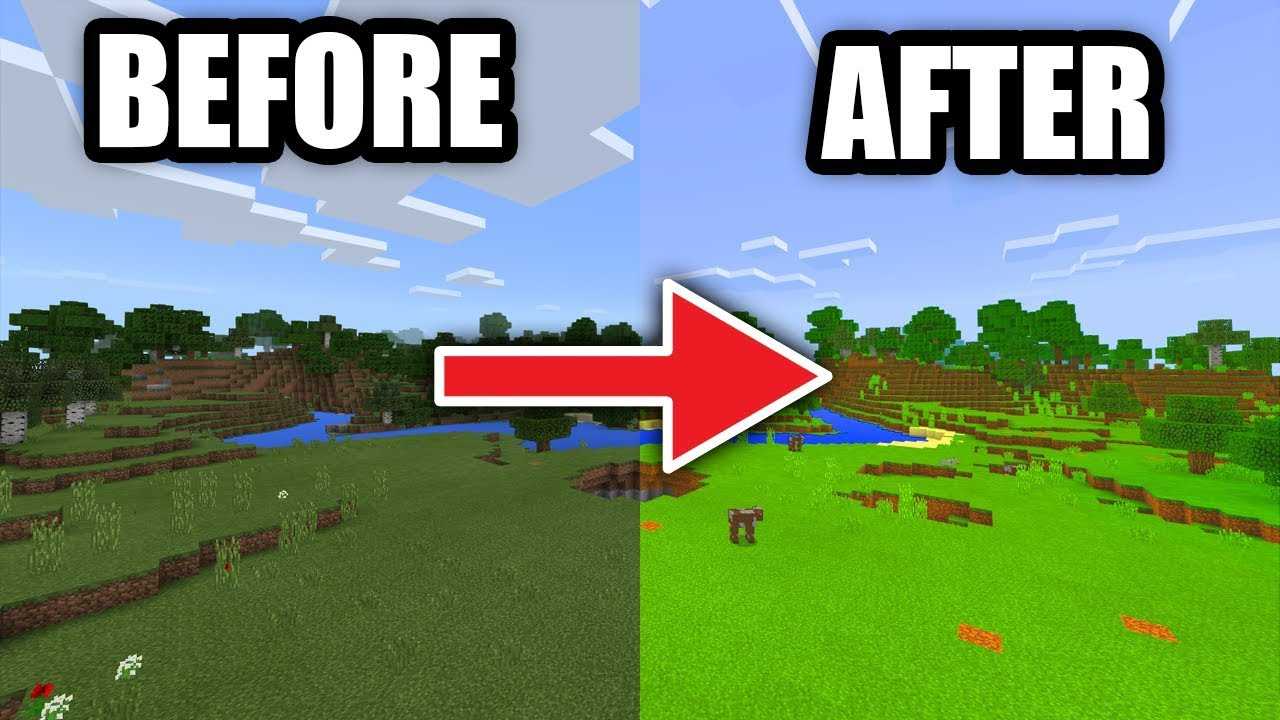 How To Make Minecraft Look Better Pe Ps4 3 Xbox One 360 Switch Pc Youtube