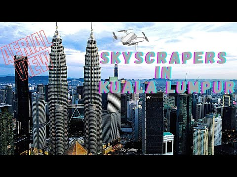 Skyscrapers In Kuala Lumpur, Malaysia | Aerial View Of KL City | HD Drone Shots by Dji Mavic Air 2