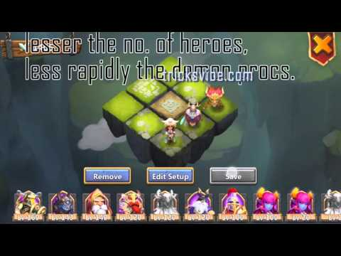 Castle Clash-HBD(Here Be Demon)-Stuns Targets Without Pd,cupid,santa,vlad,sm,mino(f2p Heroes Only)