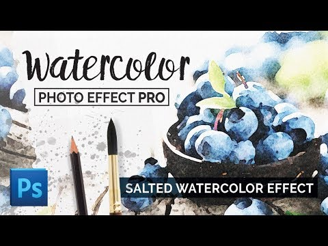 Photoshop Watercolor Effect - Salted Watercolor Effect For Photoshop Tutorial