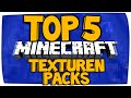 Top 5 Minecraft Resource Packs - Texturen Packs Vorstellung 1.8/1.9 | Download Deutsch