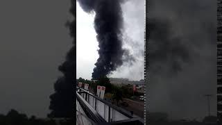 Brand bij SAPA op het industrieterrein