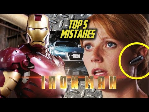 IRON MAN - Top 5 Movie Mistakes (2008) Robert Downey Jr., Jon Favreau Marvel Movie