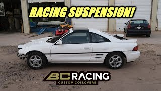 Twin Turbo Mr2 Gets New Coilovers!