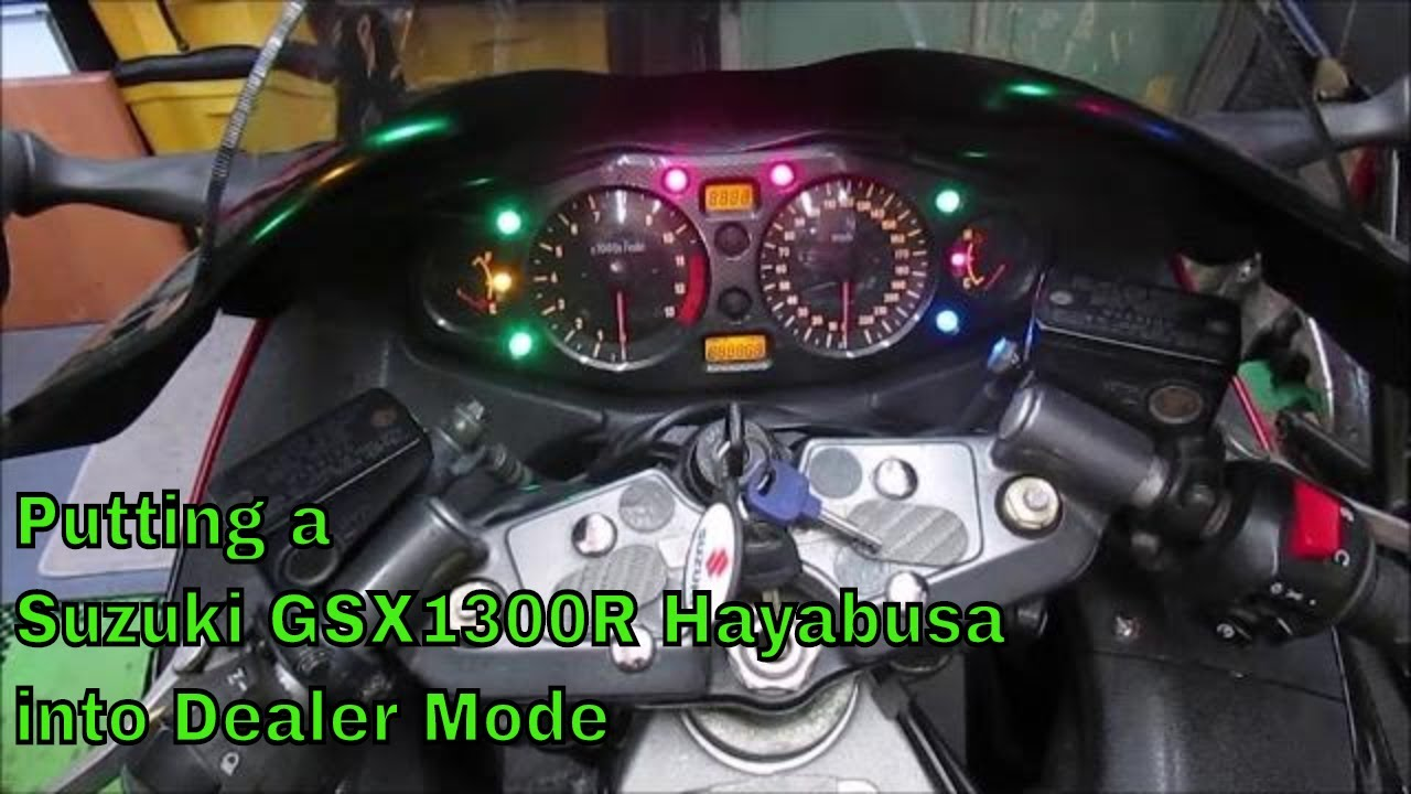 Putting a Suzuki GSX1300R Hayabusa into Dealer Mode