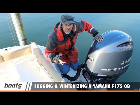 Fogging and Winterizing a Yamaha F175 EFI Outboard (It's