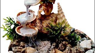 водопад СВОИМИ РУКАМИ из ракушек !? Легко//Yulily Murley//Waterfall OWN FROM shells!? Easy