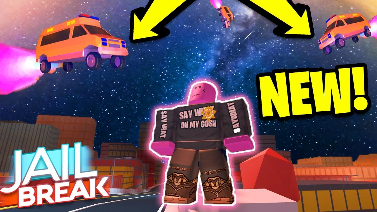 Roblox Jailbreak New Ambulance Roblox Jailbreak Going Into Space Launching An Ambulance Into Space Volcano Erupting New Update Youtube