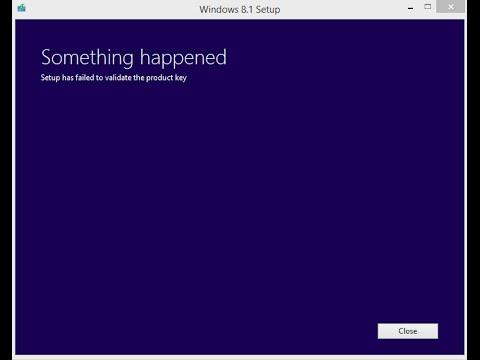 حل مشكلة setup has failed to validate the product key عند تثبيت الويندوز 8.1