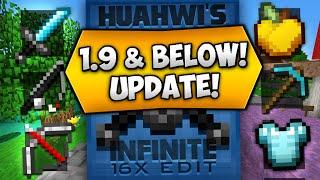 Huahwi InFinite 16x16 Texture Pack [1.9/1.8/1.7 & Below] (Minecraft PvP/UHC Resource Packs)