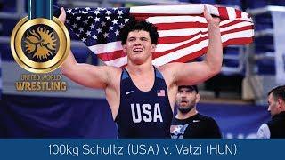 GOLD GR - 100 kg: C. SCHULTZ (USA) df. B. VATZI (HUN) by VPO1, 3-1
