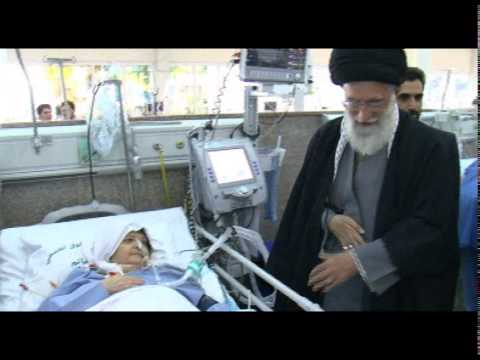 Ayatullah Khamenei visits Hospital and prayed for the health recovery of patients