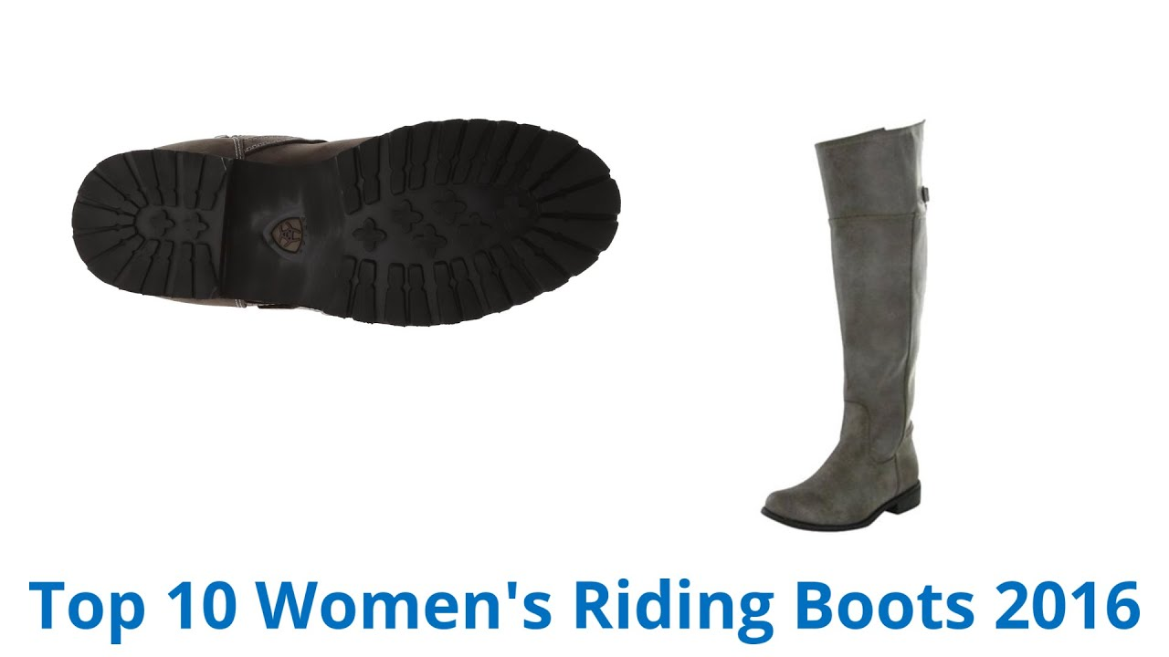 10 Best Women's Riding Boots 2016 - YouTube