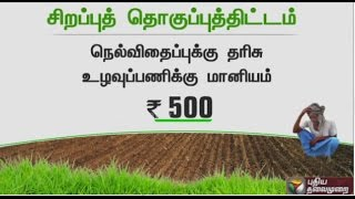 Direct Paddy Cultivation process by TN Govt. due to unavailability of water for samba crops