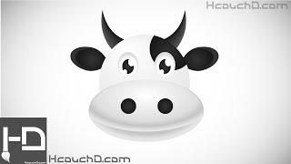 Tutorial 21 : How to Draw Cute Cow Using Illustrator كيفية رسم بقرة كرتونية بإستعمال