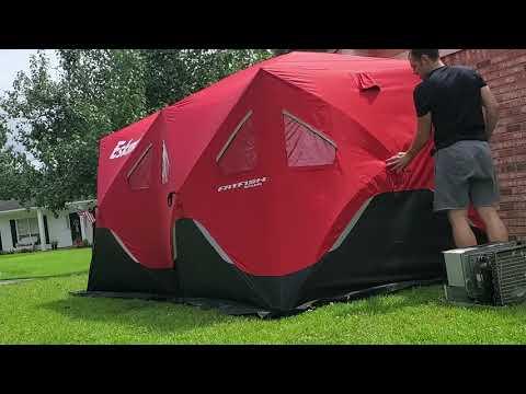 Eskimo FatFish 9416i, 9 Person Popup Tent. 109 Sq Ft.